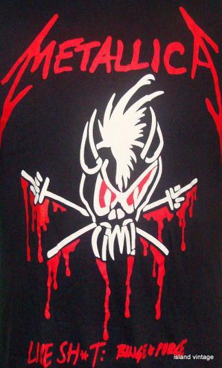 Vintage 90 S Metallica Live Shot Binge Amp Purge Rock T Shirt