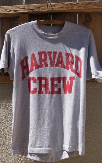 Vintage 80\'s Harvard Crew T Shirt by Screen Stars