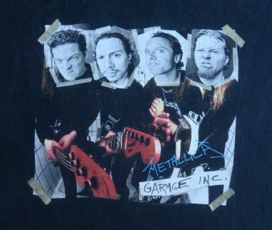 Metallica 90 S Garage Inc Tour Vintage T Shirt 1998 Concert