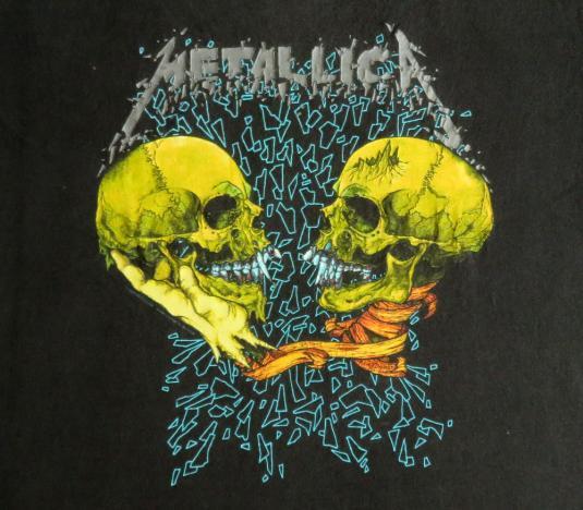 4dd31ad36 Metallica 1991 Black Tour Vintage T Shirt Sad But True
