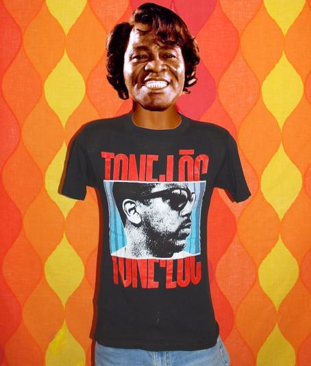 Top 50 Muppets Loc 80: Vintage 80's Tone Loc WILD THING Rap Hip Hop Black T-shirt
