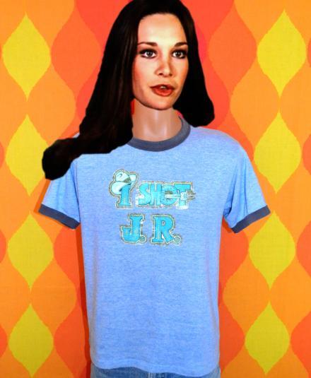 af1284447 vintage i shot J.R. ewing dallas tv show ringer t-shirt 80s