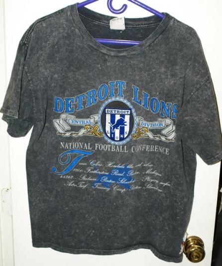 Vintage 90s nutmeg mills detroit lions franchise t shirt for T shirt printing franchise