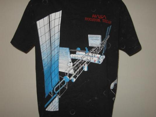 Vintage 80s nasa houston texas all over print t shirt xl for T shirt printing houston