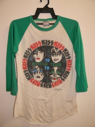VINTAGE 1979 KISS WORLD TOUR T SHIRT
