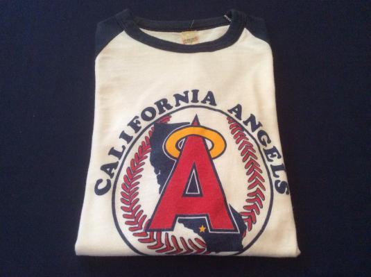Vintage California Angels Baseball Warmup Graphic T Shirt M