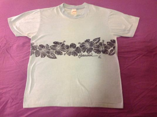 Vintage Hawaii Orchid Band T Shirt Polly Tees