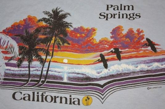L vintage 1982 palm springs california t shirt tourist for T shirt city palm springs