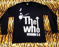 THE WHO 1980s MAXIMUM R&B LONG SLEEVE