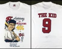 Vintage 1991 Ted Williams Anniversary Boston Red Sox T-Shirt