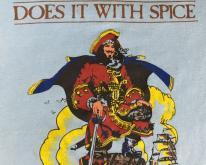 80s Captain Morgan Spiced Rum Liquor Logo