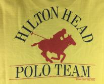 1983 Hilton Head Polo Team Original Yellow