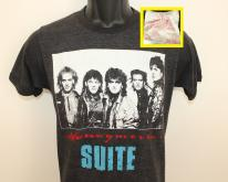 Honeymoon Suite band vtgXS/S black 80s DISRESSED