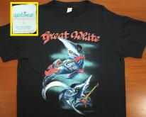 Great White Tour 1989 vtgShort L/XL black 80s rock band