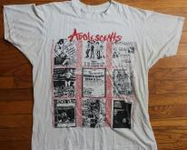 Adolescents 1980s band flyer collage concert