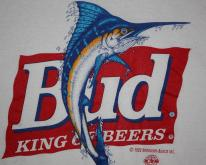 Vintage Early 90's Bud King of Beers Red Neck T-Shirt