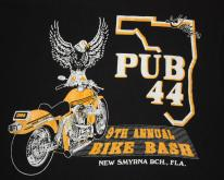 Vintage 90's Pub 44 New Smyrna Beach 9th Bike Bash T-Shirt