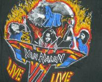 VAN HALEN 1980 U.S. INVASTION TOUR  80s