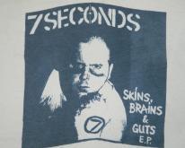 7 SECONDS 1982 SKINS BRAINS & GUTS EP  sXe XL