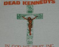 Vintage DEAD KENNEDYS 1981 In God We Trust T-Shirt Paper Thin