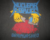 1988 NUCLEAR ASSAULT BRAINWASHED VINTAGE T-SHIRT