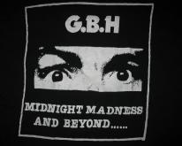 G.B.H. MIDNIGHT MADNESS VINTAGE T-SHIRT PUNK CHARGED GBH