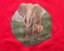 90s Endangered Elephants Crewneck Swea, Lee