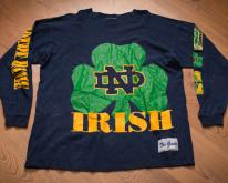 Notre Dame University Fighting Irish Long Sleeve  90s
