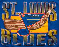 St Louis Blues , Logo 7 Graphic Tee,  80s-90s