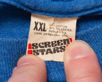 Screen Stars Blue , Thin Blank Tee, 80s, Tagged XXL