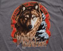 90s 3D Emblem Harley-Davidson Leader of Pack Wolf