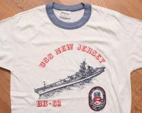 USS New Jersey BB-62 Battleship Ringer , Stedman Tee