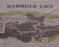 Mammoth Cave Maps ,  80s, Kentucky Caving Tee