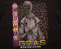 Mardi Gras Knight , New Orleans Party Graphic80s