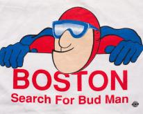 Boston Search for Bud Man , Budweiser Beer, 90s Tee