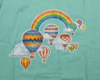 80s Rainbow & Hot Air Balloons Illustration Art