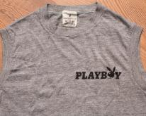 Playboy Bunny Logo Muscle , Rayon Tri-Blend, 70s-80s