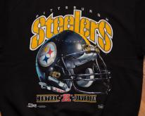 90s Pittsburgh Steelers Big Helmet Logo Swea