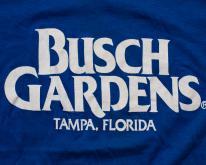 Busch Gardens Logo , Tampa Florida FL  80s Tee