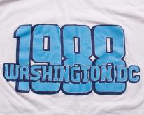 1988 Washington DC T-Shirt, Retro Graphic Tee, Light Blue