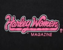 Harley Women Magazine Logo Shirt, RARE Vintage 80s Davidson