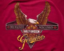 Harley-Davidson Logo w/Eagle Raglan Swea,  90s