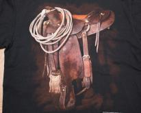 90s 3D Emblem Rodeo Saddle & Cowboy Gear