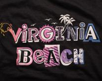 Virginia Beach , Retro Pink & Purple Graphic, 1990s