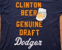 Bill Clinton Beer T-Shirt Genuine Draft Dodger Political Tee