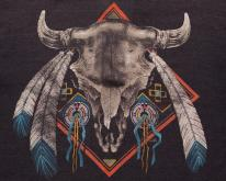 Buffalo Skull , Native American Indian Dreamcatcher 80s