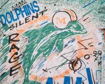 90s Miami Dolphins Abstract Paint Splatters