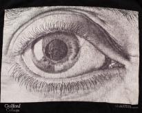 MC Escher Eye  Death Skull Pupil Psychedelic90s