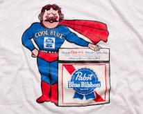 Pabst Blue Ribbon Beer , Cool Man Superhero, 80s Tee