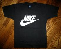 Vintage 80s M NIKE Blue Tag SWOOSH T-Shirt MEDIUM ORIGINAL